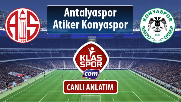 Antalyaspor - Atiker Konyaspor maç kadroları belli oldu...