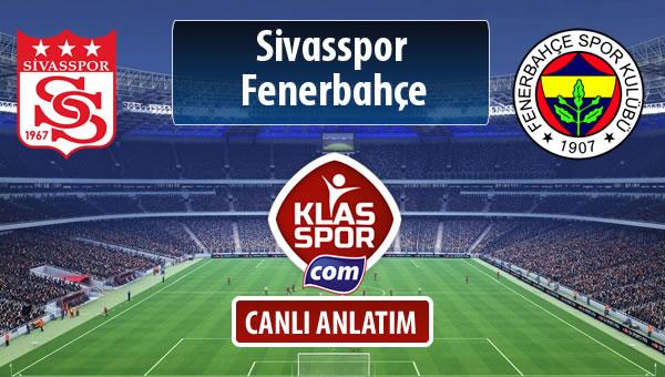 Demir Grup Sivasspor - Fenerbahçe sahaya hangi kadro ile çıkıyor?
