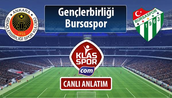 İşte Gençlerbirliği - Bursaspor maçında ilk 11'ler