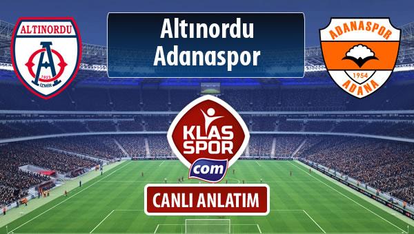 İşte Altınordu - Adanaspor maçında ilk 11'ler