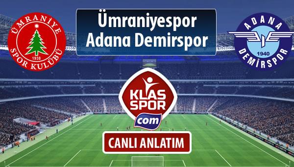 İşte Ümraniyespor - Adana Demirspor maçında ilk 11'ler