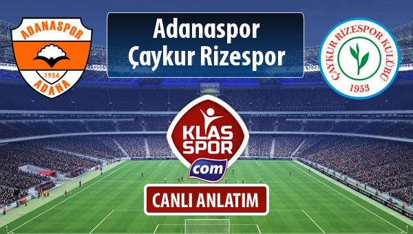 Adanaspor - Çaykur Rizespor maç kadroları belli oldu...
