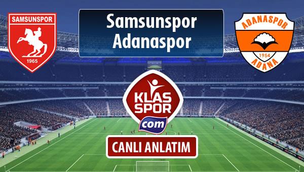 Samsunspor - Adanaspor sahaya hangi kadro ile çıkıyor?