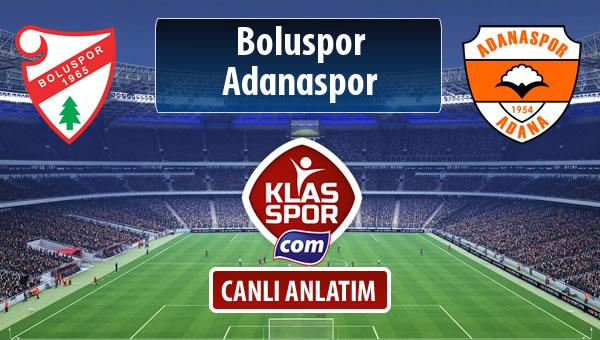 Boluspor - Adanaspor sahaya hangi kadro ile çıkıyor?