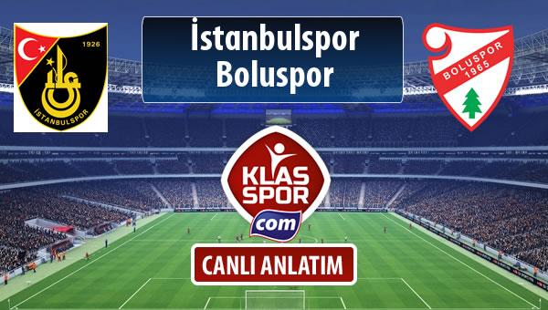 İstanbulspor - Boluspor sahaya hangi kadro ile çıkıyor?
