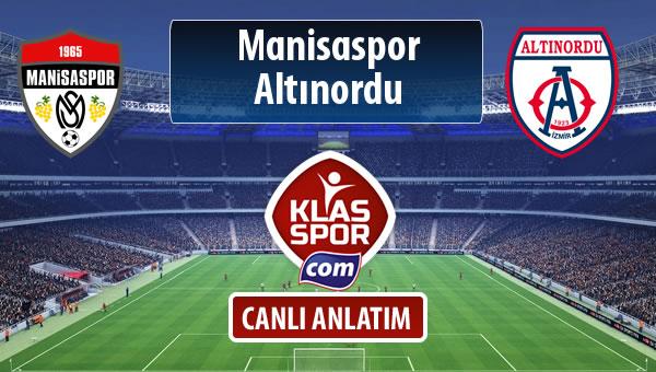 Manisaspor - Altınordu maç kadroları belli oldu...