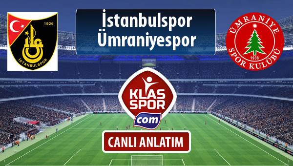 İstanbulspor - Ümraniyespor maç kadroları belli oldu...