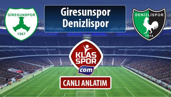 Giresunspor - Denizlispor maç kadroları belli oldu...