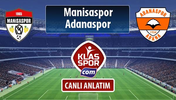 Manisaspor - Adanaspor sahaya hangi kadro ile çıkıyor?