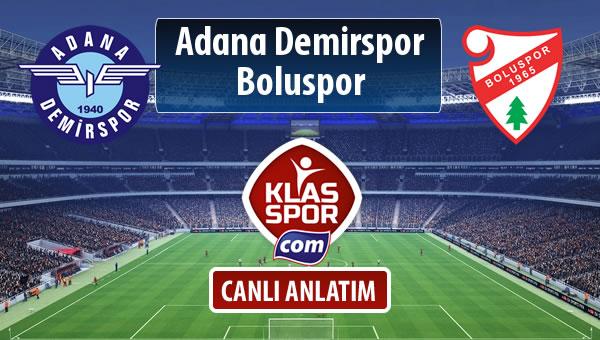 Adana Demirspor - Boluspor sahaya hangi kadro ile çıkıyor?