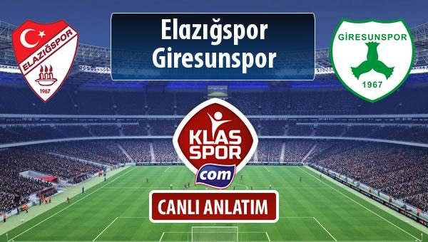 Elazığspor - Giresunspor sahaya hangi kadro ile çıkıyor?