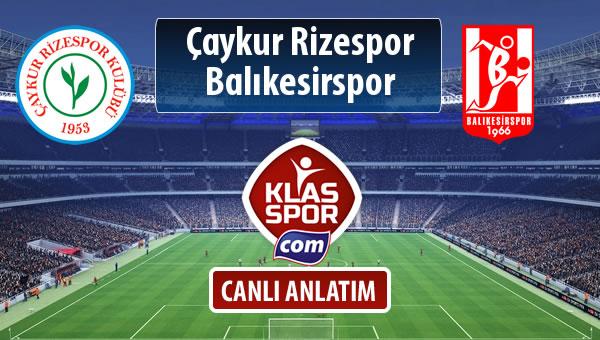 İşte Çaykur Rizespor - Balıkesirspor Baltok maçında ilk 11'ler