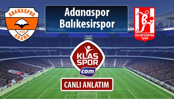 İşte Adanaspor - Balıkesirspor Baltok maçında ilk 11'ler