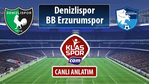 Denizlispor - BB Erzurumspor maç kadroları belli oldu...