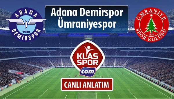 İşte Adana Demirspor - Ümraniyespor maçında ilk 11'ler