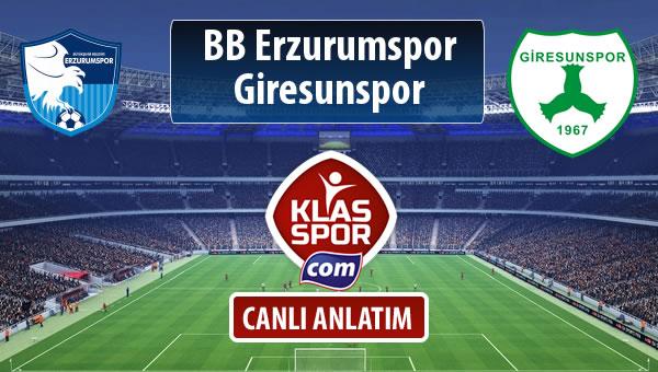 İşte BB Erzurumspor - Giresunspor maçında ilk 11'ler