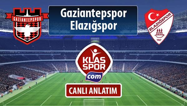 Gaziantepspor - Elazığspor sahaya hangi kadro ile çıkıyor?