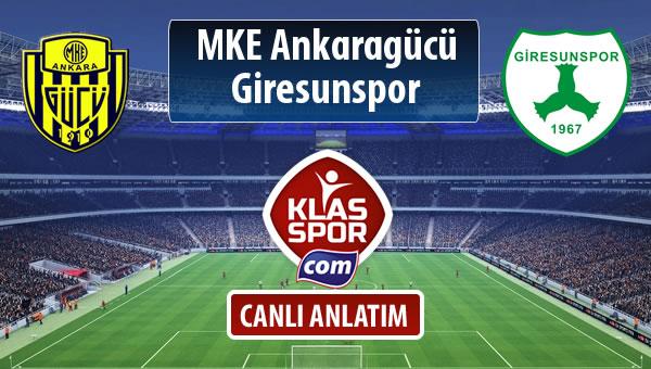 İşte MKE Ankaragücü - Giresunspor maçında ilk 11'ler