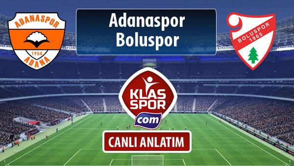 İşte Adanaspor - Boluspor maçında ilk 11'ler