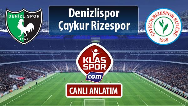 Denizlispor - Çaykur Rizespor maç kadroları belli oldu...