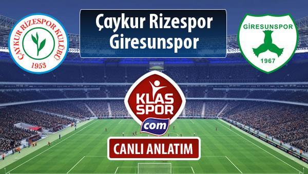 İşte Çaykur Rizespor - Giresunspor maçında ilk 11'ler