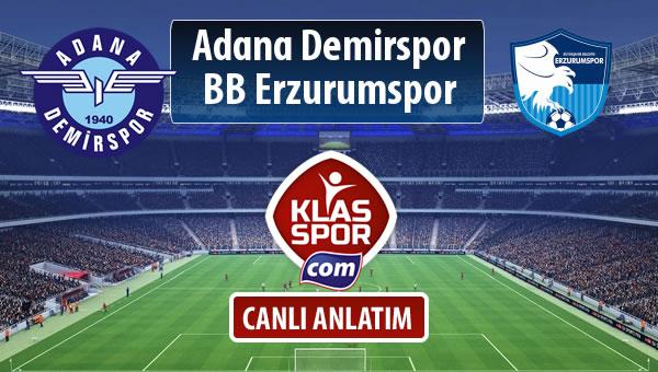 Adana Demirspor - BB Erzurumspor sahaya hangi kadro ile çıkıyor?