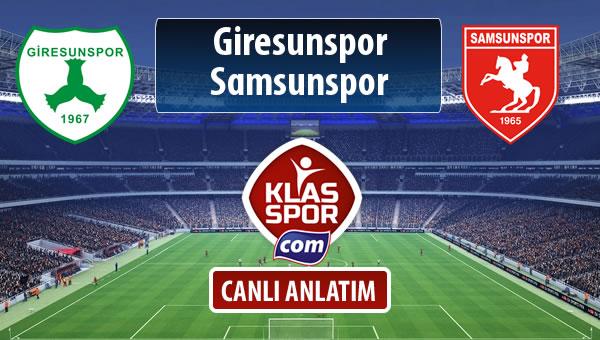 İşte Giresunspor - Samsunspor maçında ilk 11'ler