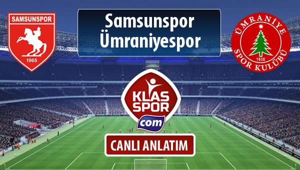 Samsunspor - Ümraniyespor maç kadroları belli oldu...