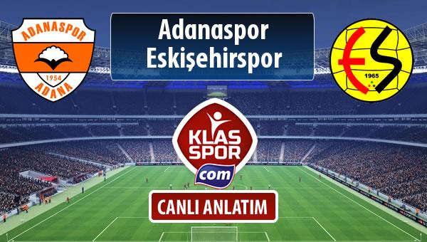Adanaspor - Eskişehirspor maç kadroları belli oldu...