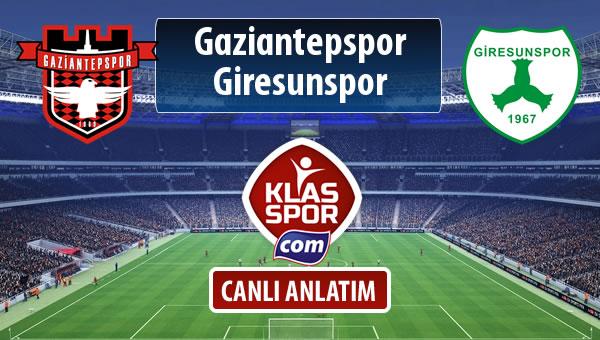 İşte Gaziantepspor - Giresunspor maçında ilk 11'ler