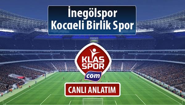 İnegölspor - Kocaeli Birlik Spor sahaya hangi kadro ile çıkıyor?
