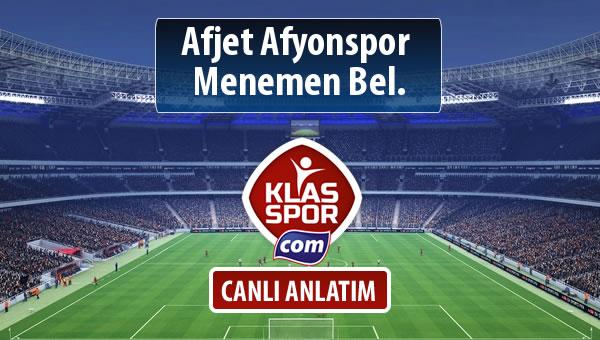 Afjet Afyonspor  - Menemen Bel. maç kadroları belli oldu...