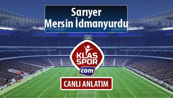 Sarıyer - Mersin İdmanyurdu maç kadroları belli oldu...
