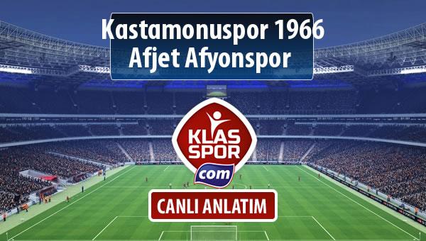 Kastamonuspor 1966 - Afjet Afyonspor  maç kadroları belli oldu...