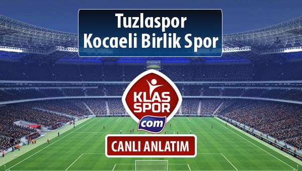 Tuzlaspor - Kocaeli Birlik Spor sahaya hangi kadro ile çıkıyor?