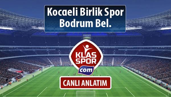 Kocaeli Birlik Spor - Bodrum Bel. maç kadroları belli oldu...