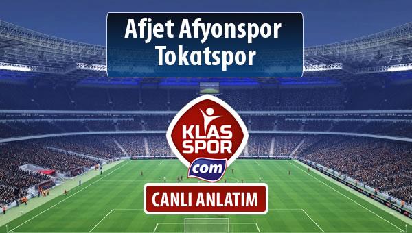 Afjet Afyonspor  - Tokatspor maç kadroları belli oldu...