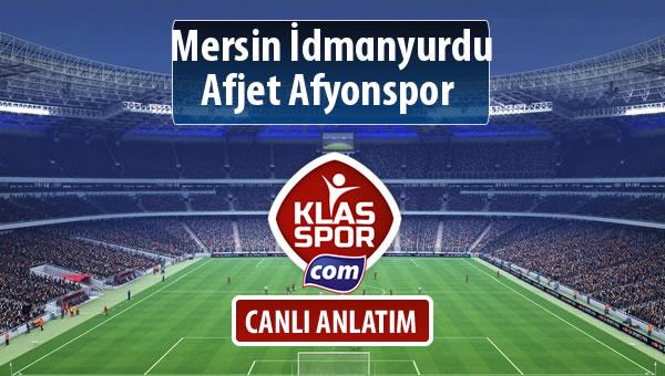 İşte Mersin İdmanyurdu - Afjet Afyonspor  maçında ilk 11'ler