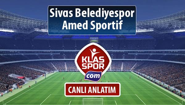 Sivas Belediyespor - Amed Sportif sahaya hangi kadro ile çıkıyor?