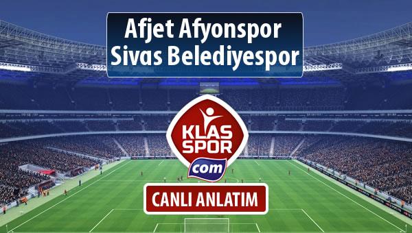 Afjet Afyonspor  - Sivas Belediyespor sahaya hangi kadro ile çıkıyor?