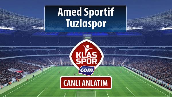 Amed Sportif - Tuzlaspor sahaya hangi kadro ile çıkıyor?