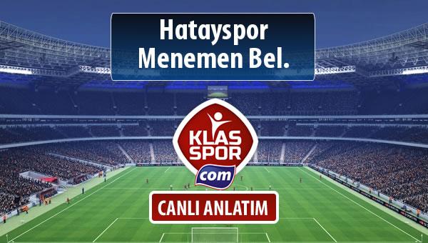 İşte Hatayspor - Menemen Bel. maçında ilk 11'ler