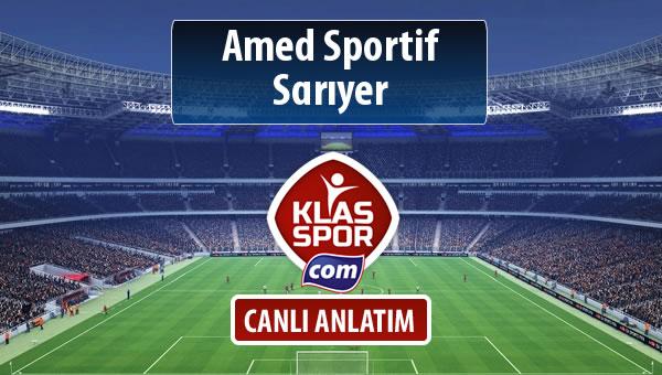 Amed Sportif - Sarıyer maç kadroları belli oldu...