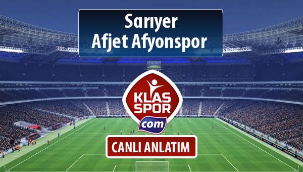 Sarıyer - Afjet Afyonspor  maç kadroları belli oldu...