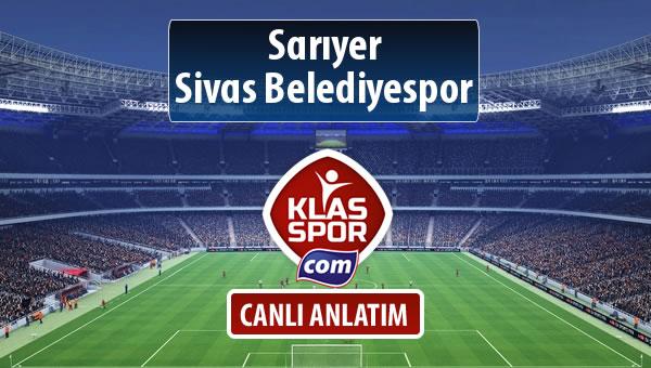 Sarıyer - Sivas Belediyespor maç kadroları belli oldu...