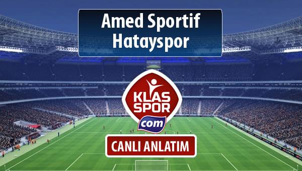 Amed Sportif - Hatayspor maç kadroları belli oldu...