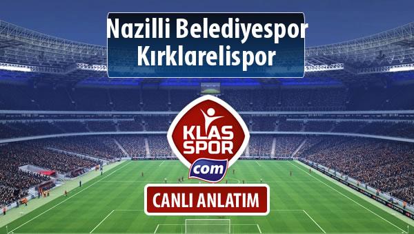 Nazilli Belediyespor - Kırklarelispor maç kadroları belli oldu...