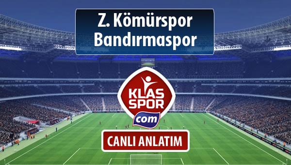 Z. Kömürspor - Bandırmaspor sahaya hangi kadro ile çıkıyor?