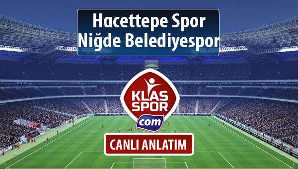 Hacettepe Spor - Niğde Belediyespor maç kadroları belli oldu...
