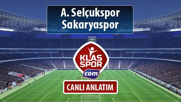 A. Selçukspor - Sakaryaspor sahaya hangi kadro ile çıkıyor?